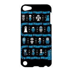 Who Is Outside Ugly Holiday Christmas Black Background Apple iPod Touch 5 Hardshell Case