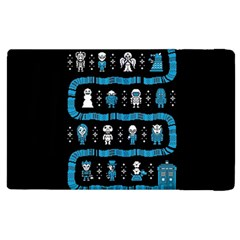 Who Is Outside Ugly Holiday Christmas Black Background Apple iPad 3/4 Flip Case