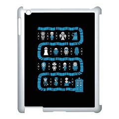 Who Is Outside Ugly Holiday Christmas Black Background Apple iPad 3/4 Case (White)