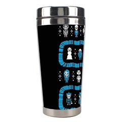 Who Is Outside Ugly Holiday Christmas Black Background Stainless Steel Travel Tumblers