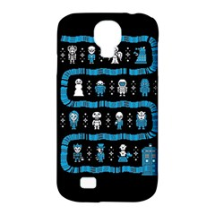 Who Is Outside Ugly Holiday Christmas Black Background Samsung Galaxy S4 Classic Hardshell Case (PC+Silicone)