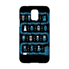 Who Is Outside Ugly Holiday Christmas Black Background Samsung Galaxy S5 Hardshell Case
