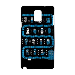 Who Is Outside Ugly Holiday Christmas Black Background Samsung Galaxy Note 4 Hardshell Case