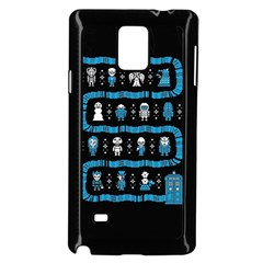 Who Is Outside Ugly Holiday Christmas Black Background Samsung Galaxy Note 4 Case (Black)