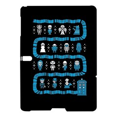Who Is Outside Ugly Holiday Christmas Black Background Samsung Galaxy Tab S (10.5 ) Hardshell Case