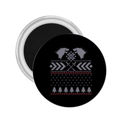 Winter Is Coming Game Of Thrones Ugly Christmas Black Background 2 25  Magnets