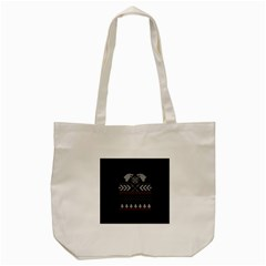 Winter Is Coming Game Of Thrones Ugly Christmas Black Background Tote Bag (Cream)