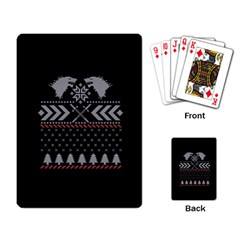 Winter Is Coming Game Of Thrones Ugly Christmas Black Background Playing Card
