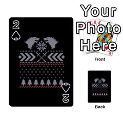 Winter Is Coming Game Of Thrones Ugly Christmas Black Background Playing Cards 54 Designs