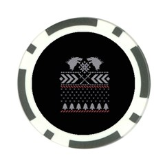Winter Is Coming Game Of Thrones Ugly Christmas Black Background Poker Chip Card Guards