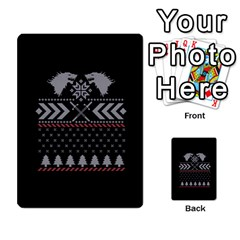Winter Is Coming Game Of Thrones Ugly Christmas Black Background Multi-purpose Cards (Rectangle)