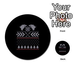 Winter Is Coming Game Of Thrones Ugly Christmas Black Background Multi Purpose Cards (round)