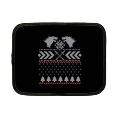Winter Is Coming Game Of Thrones Ugly Christmas Black Background Netbook Case (Small)