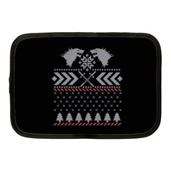 Winter Is Coming Game Of Thrones Ugly Christmas Black Background Netbook Case (Medium)