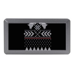 Winter Is Coming Game Of Thrones Ugly Christmas Black Background Memory Card Reader (Mini)