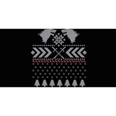 Winter Is Coming Game Of Thrones Ugly Christmas Black Background YOU ARE INVITED 3D Greeting Card (8x4)