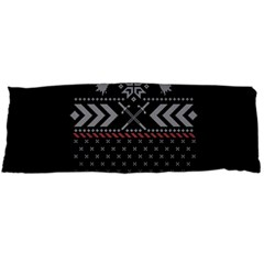 Winter Is Coming Game Of Thrones Ugly Christmas Black Background Body Pillow Case Dakimakura (two Sides)