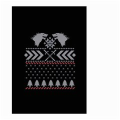 Winter Is Coming Game Of Thrones Ugly Christmas Black Background Small Garden Flag (two Sides)