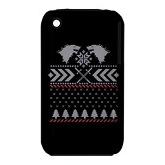 Winter Is Coming Game Of Thrones Ugly Christmas Black Background Apple Iphone 3g/3gs Hardshell Case (pc+silicone)
