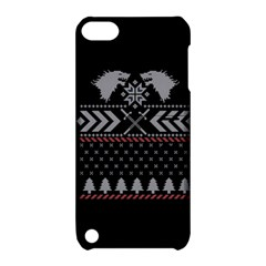 Winter Is Coming Game Of Thrones Ugly Christmas Black Background Apple iPod Touch 5 Hardshell Case with Stand