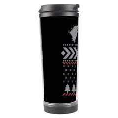 Winter Is Coming Game Of Thrones Ugly Christmas Black Background Travel Tumbler