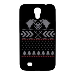 Winter Is Coming Game Of Thrones Ugly Christmas Black Background Samsung Galaxy Mega 6 3  I9200 Hardshell Case