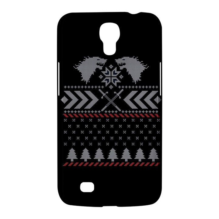 Winter Is Coming Game Of Thrones Ugly Christmas Black Background Samsung Galaxy Mega 6.3  I9200 Hardshell Case