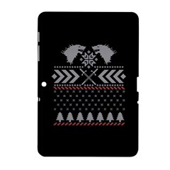 Winter Is Coming Game Of Thrones Ugly Christmas Black Background Samsung Galaxy Tab 2 (10.1 ) P5100 Hardshell Case
