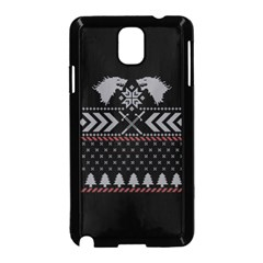 Winter Is Coming Game Of Thrones Ugly Christmas Black Background Samsung Galaxy Note 3 Neo Hardshell Case (black)