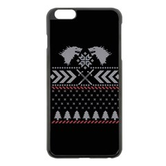 Winter Is Coming Game Of Thrones Ugly Christmas Black Background Apple Iphone 6 Plus/6s Plus Black Enamel Case