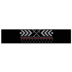 Winter Is Coming Game Of Thrones Ugly Christmas Black Background Flano Scarf (Small)