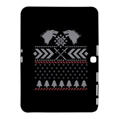 Winter Is Coming Game Of Thrones Ugly Christmas Black Background Samsung Galaxy Tab 4 (10.1 ) Hardshell Case