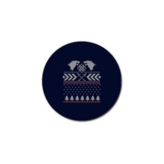 Winter Is Coming Game Of Thrones Ugly Christmas Blue Background Golf Ball Marker