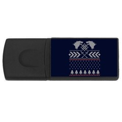 Winter Is Coming Game Of Thrones Ugly Christmas Blue Background Usb Flash Drive Rectangular (4 Gb)
