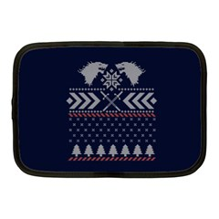 Winter Is Coming Game Of Thrones Ugly Christmas Blue Background Netbook Case (medium)