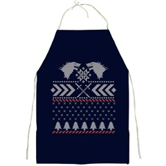 Winter Is Coming Game Of Thrones Ugly Christmas Blue Background Full Print Aprons