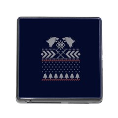 Winter Is Coming Game Of Thrones Ugly Christmas Blue Background Memory Card Reader (square)