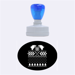 Winter Is Coming Game Of Thrones Ugly Christmas Blue Background Rubber Oval Stamps