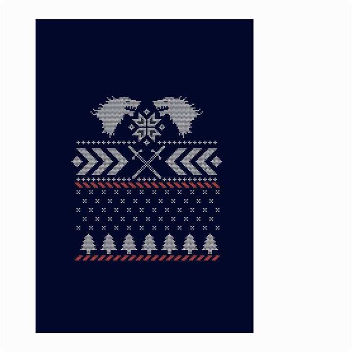 Winter Is Coming Game Of Thrones Ugly Christmas Blue Background Small Garden Flag (Two Sides)