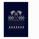 Winter Is Coming Game Of Thrones Ugly Christmas Blue Background Small Garden Flag (Two Sides) Back