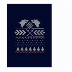 Winter Is Coming Game Of Thrones Ugly Christmas Blue Background Large Garden Flag (two Sides)