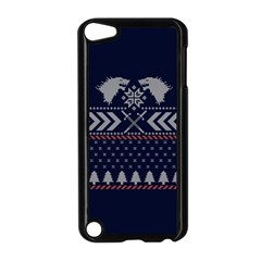 Winter Is Coming Game Of Thrones Ugly Christmas Blue Background Apple Ipod Touch 5 Case (black)