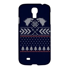 Winter Is Coming Game Of Thrones Ugly Christmas Blue Background Samsung Galaxy S4 I9500/i9505 Hardshell Case