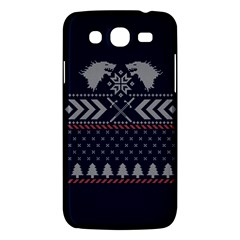 Winter Is Coming Game Of Thrones Ugly Christmas Blue Background Samsung Galaxy Mega 5 8 I9152 Hardshell Case