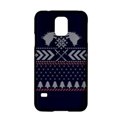Winter Is Coming Game Of Thrones Ugly Christmas Blue Background Samsung Galaxy S5 Hardshell Case