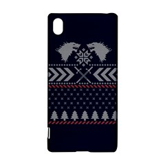 Winter Is Coming Game Of Thrones Ugly Christmas Blue Background Sony Xperia Z3+