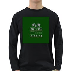 Winter Is Coming Game Of Thrones Ugly Christmas Green Background Long Sleeve Dark T Shirts