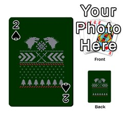 Winter Is Coming Game Of Thrones Ugly Christmas Green Background Playing Cards 54 Designs