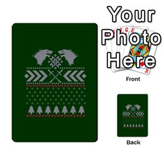 Winter Is Coming Game Of Thrones Ugly Christmas Green Background Multi Purpose Cards (rectangle)