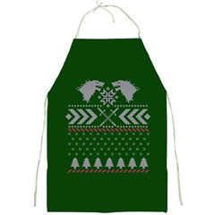 Winter Is Coming Game Of Thrones Ugly Christmas Green Background Full Print Aprons